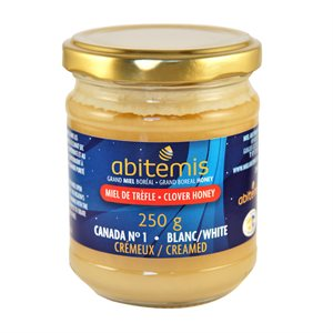 Miel de trèfle crémeux - Abitémis 250g
