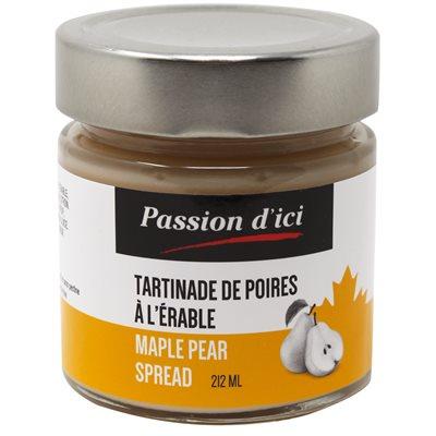 Tartinade de poires à l'érable - Passion d'ici 212ml