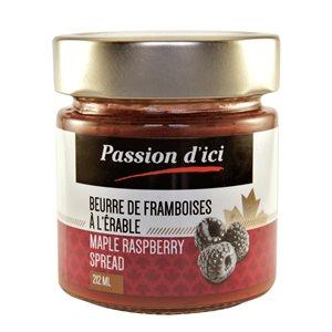 Beurre de Framboises à l'érable - Passion d'ici 212ml