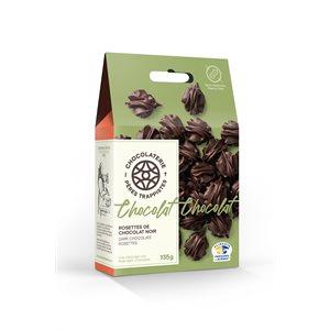 Rosettes de chocolat noir - Chocolaterie des Pères Trappistes 135g