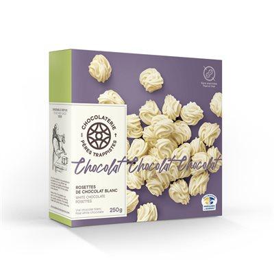 Rosettes de chocolat blanc - Chocolaterie des Pères Trappistes 250g