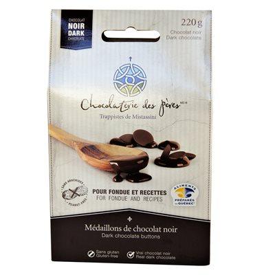 Médaillons à fondue de chocolat noir - Chocolaterie des Pères Trappistes 220g