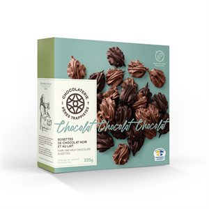 Chocolaterie des Pères Trappistes - Dark & Milk Chocolate Rosettes 225g