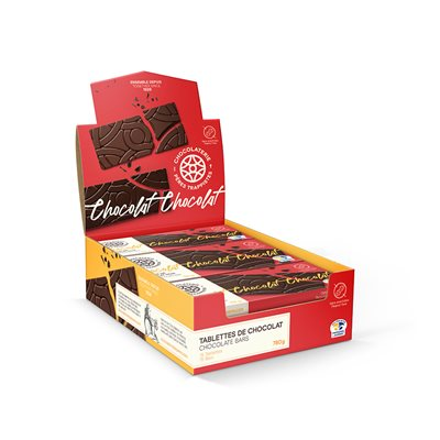 Tablettes de chocolat noir - Chocolaterie des Pères Trappistes 52g