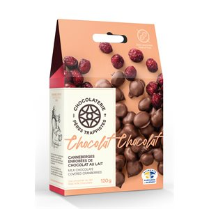 Chocolaterie des Pères Trappistes - Cranberries Covered Milk Chocolate 120g