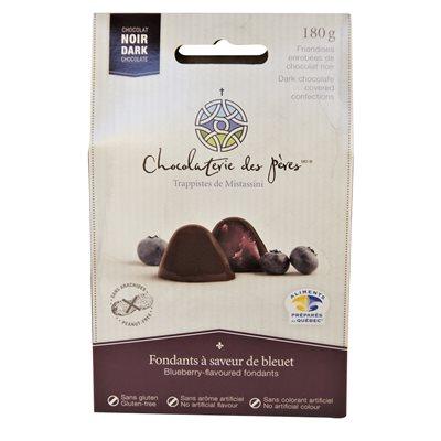 Fondants aux bleuets enrobés de chocolat noir - Chocolaterie des Pères Trappistes 180g