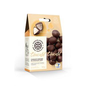 Fondants à l'érable enrobés de chocolat noir - Chocolaterie des Pères Trappistes 180g