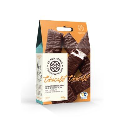 Guimauves enrobées de chocolat noir - Chocolaterie des Pères Trappistes 108g