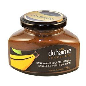 Tartinade chocolat noir, bananes et vanille Bourbon - Duhaime Gourmet 172g
