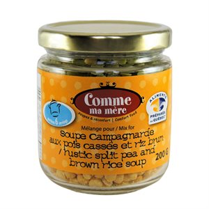 Comme Ma Mère - Rustic Split Pea & Brown Rice Soup 200g